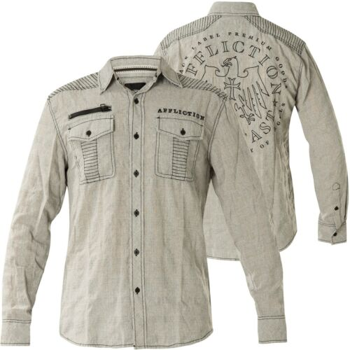 Affliction Camicia Warfare camicie GRIGIO
