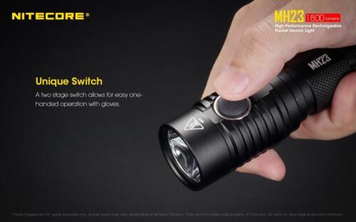 NITECORE MH23 1800 Lumen Rechargeable Flashlight w// 1x IMR 3100mAh 18650 Battery