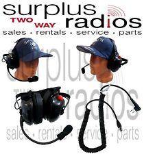 New Dual Ear Racing Headset For Motorola Radios Rdu2020 Rdmu2040 Rmm2050 Rmv2080