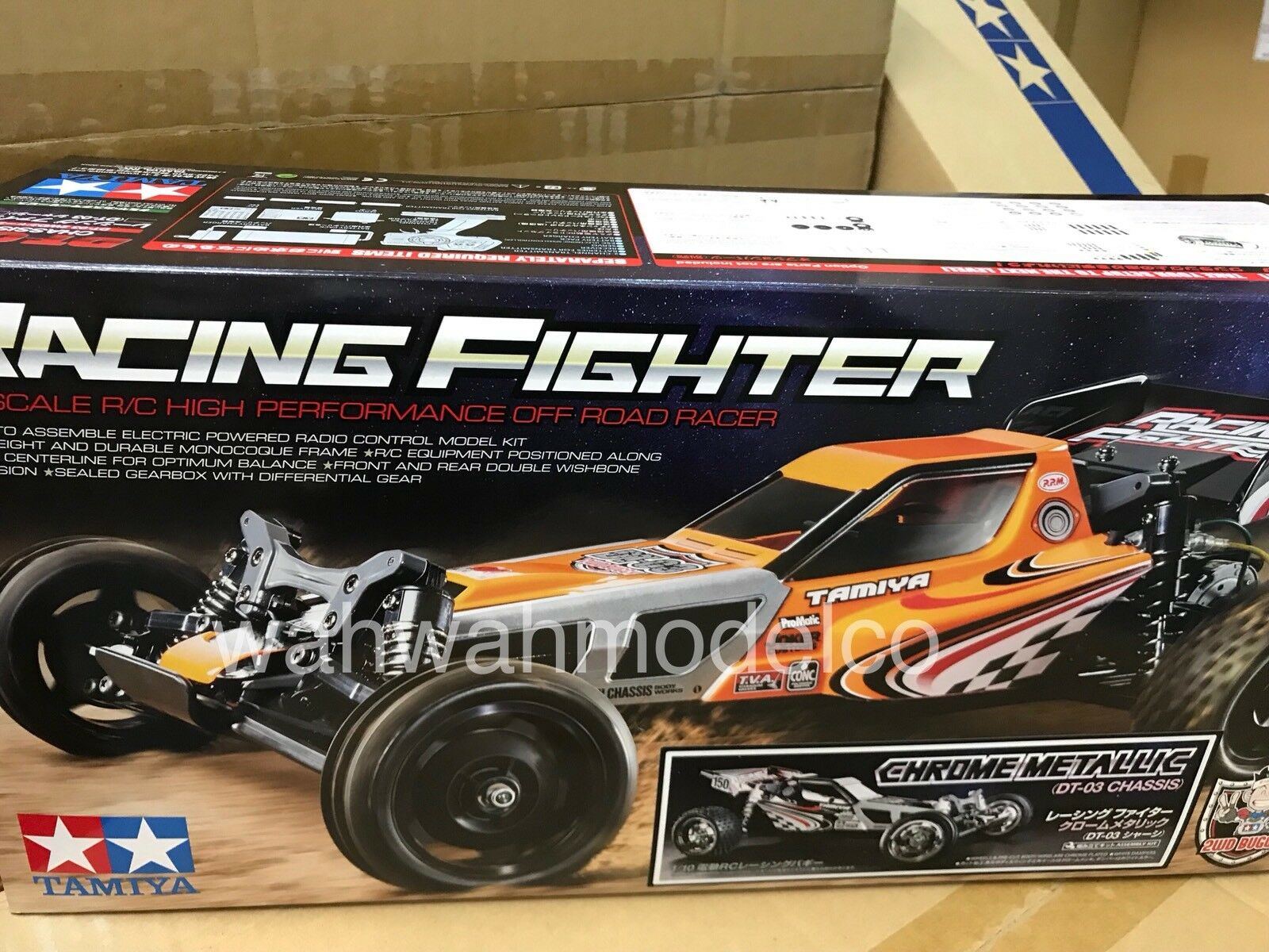 47347 Tamiya 1 10 RC RACING FIGHTER DT03 Cromo Metálico
