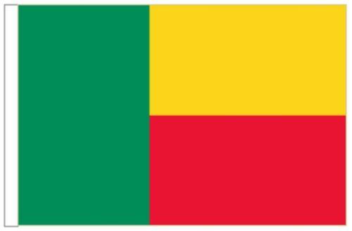 Benin Arm Höflichkeitsflagge Ideal für Boote 45cm X 30cm
