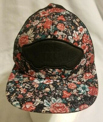 Vans Off The Wall Beach Rose Floral Classic Patch Snapback Trucker ...