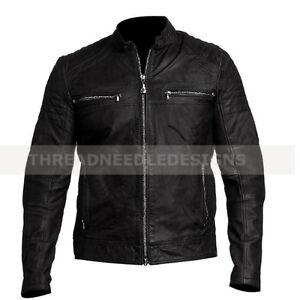 Image Is Loading Men 039 S Fashion Biker Vintage Style Cafe
