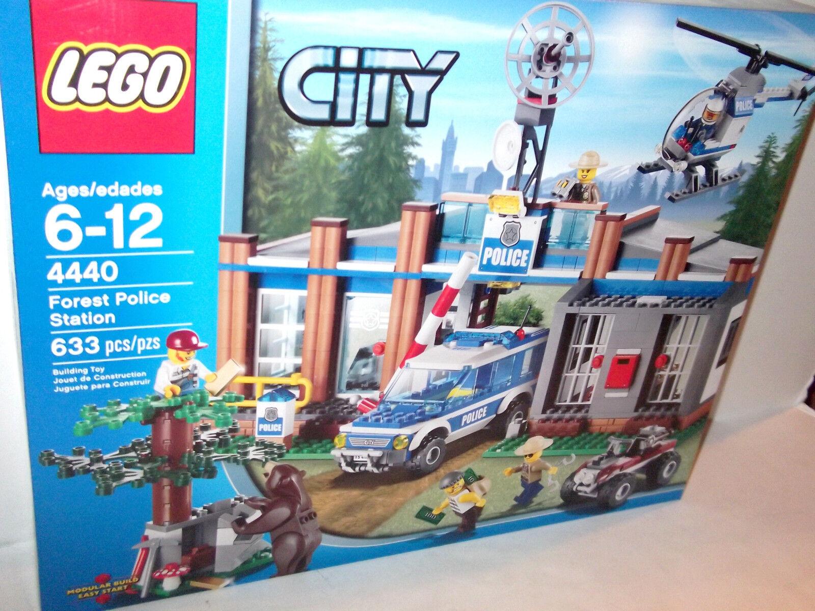 ✰ nuevo ✰ retirado Estación De Policía Forestal Lego ✰ ✰ helicóptero sellado de fábrica
