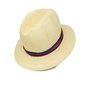 Travler-Country-Gentleman-Mens-Hat-Genuine-Panama-Fedora-Straw-Size-7-1-8