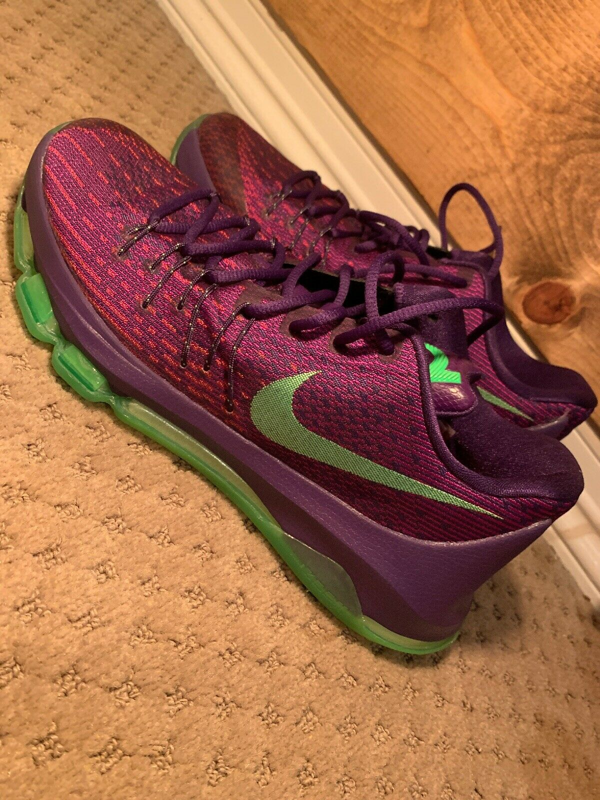 "reputable site bff19 0ed1e NIB NIKE NIKE NIKE KD 8 ""SUIT"" Purple Green Size 9 6384f5 ..."