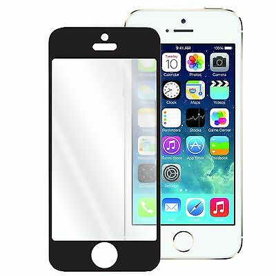 Black Shatter Proof Tempered Glass Screen Protector For iPhone 4 & 4S