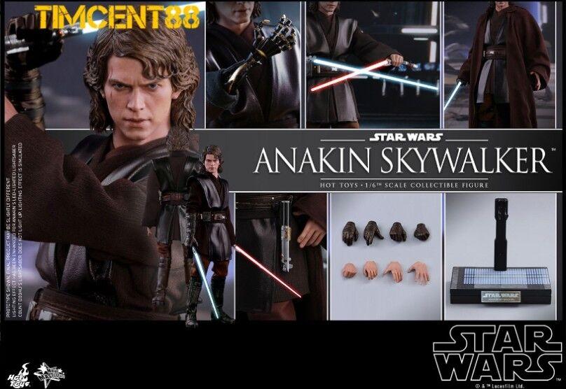 Pré-oder  Hot Toys MMS437 Star Wars Revenge of the Sith Anakin Skywalker Hayden