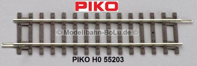 - NEU 6 Stück Piko H0 55202-S Gerades Gleis G119 OVP Länge 119 mm