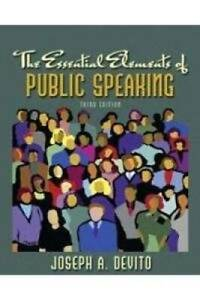 Essential Elements of Public Speaking, The, Books a la ...