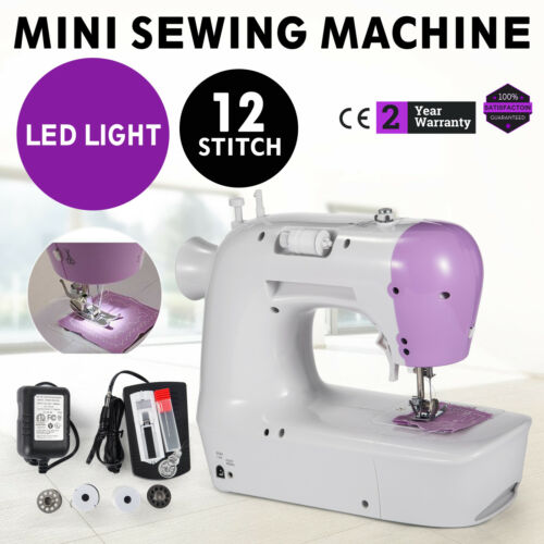 Professional Electric Mini Sewing Machine 2 Speed Tubular Sewing 12-Stitch