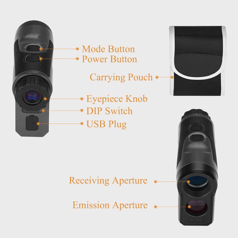 BOBLOV 6x22 Optical 1000M Hunting Laser Range Finder Distance Distance Distance & Speed Telescope 822fb0