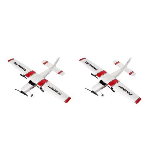 2x RC Glider FX801 Ferngesteuertes Elektroflugzeug mit festen Flügelflügeln