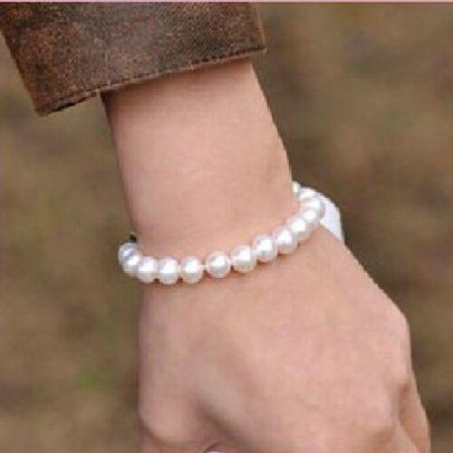 Damen Perlen Armband all Size Silber Armkette Armschmuck Geschenk Partner neu
