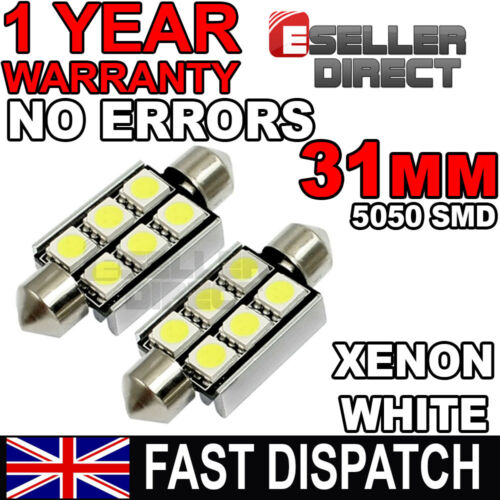 Interior 2 x LED 31mm 6xSMD Festoon Light Bulb for Mazda 626 MX3 MX5 MX-5 MX6