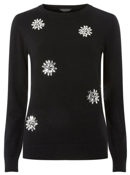 Warnen Dorothy Perkins Snowflake Gem Pullover Für Damen - Schwarz, Größe 46 Günstig Kaufen |