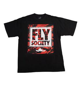 FLY-SOCIETY-MENS-BLACK-PARADISE-T-SHIRT