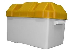 Large Battery Box With Straps & Divider Caravan / Camper / Boat / Motorhome