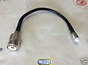 UHF SO239 Female to FME Male Female Straight RF Coax Cable LMR195 4-36inch US As