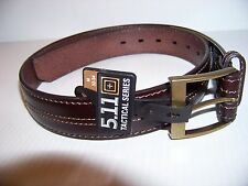 5.11 TACTICAL SERIES STRAP LEATHER BROWN BELT SIZE XL  40 - 42 EXCELLENT NEW