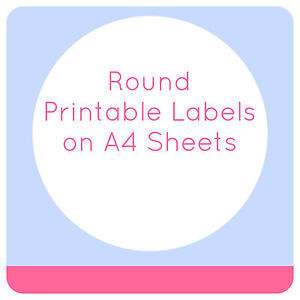 photo relating to Printable Stickers Round titled Information and facts regarding BLANK LABELS STICKERS 5 OR 15 SHEETS PRINTABLE CIRCLES A4 TEMPLATES CIRCLE Do it yourself