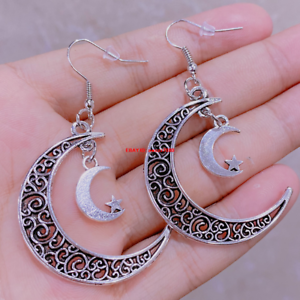 ON SALE crescent moon earrings