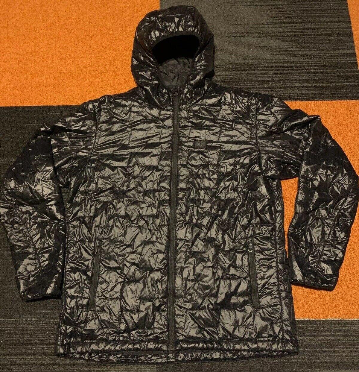 Helly Hansen Womens Lifaloft Hooded Insulator Jacket Large Grenadine