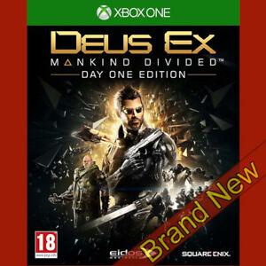 DEUS-EX-MANKIND-DIVIDED-Microsoft-Xbox-ONE-18-Brand-New-amp-Sealed
