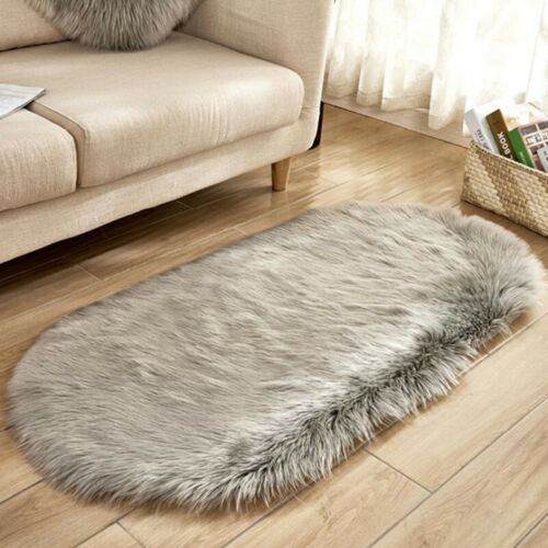 Fluffy Faux Fur Rug Area Rugs Hairy Soft Shaggy Bedroom Home Carpet Floor Mats