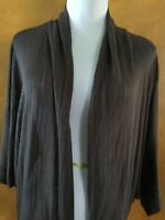 Willi Smith Woman's Open Front Brown Cardigan Size Large