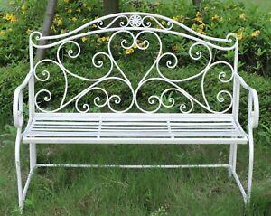 Details About Metal Garden Bench Seat Patio Furniture Vintage Foldable  Antique Patio Outdoor