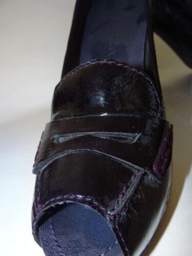 Peep Plum Venta 9 al menor 5 Tamaño por 185 Apepazza Patent Lyon Heels Toe xgnFBw