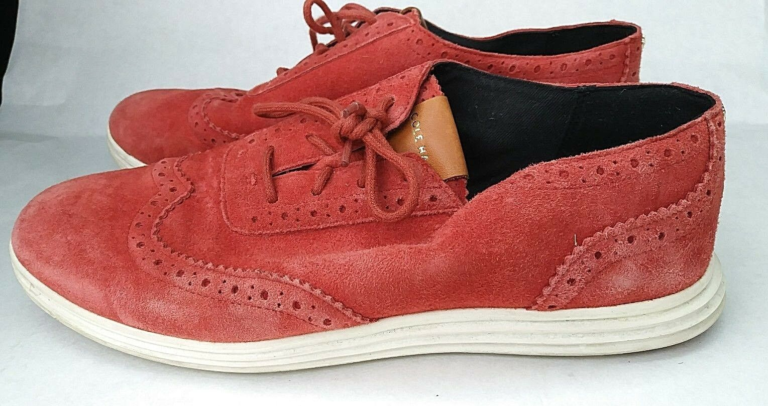 Cole Cole Cole Haan Grand.OS Women's size 7 B Suede shoes Red Light Weight W05612  130. 531e83