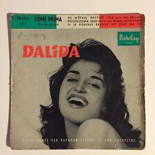 Ref1054 Vinyle 45 Tours Dalida Tu M'étais Destiné Barclay