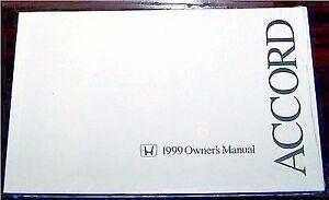 1999 honda accord sedan owners manual new original ebay rh ebay com 1999 honda accord service manual pdf 1999 honda accord service manual