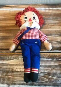 Vintage-Raggedy-Andy-Doll-15-034-Knickerbocker-Plush-Stuffed-Toy-Made-in-Taiwan