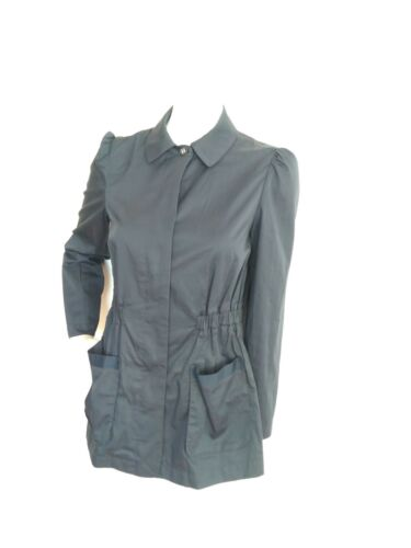 Size With 10 Pockets Raincoat Elasticated Jaeger 100 Waist Cotton Navy Jacket wEpqIFqBS