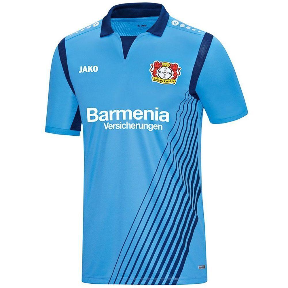 Jako Fußball Bayer 04 Leverkusen Away Auswärts Trikot Auswärts Away 2018 2019 Herren hellblau 459eb4