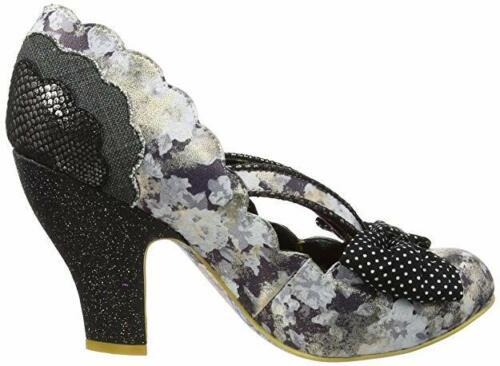 Black High Heel Polka Dot Bow Shoes Q Irregular Choice /'Curtain Call/'