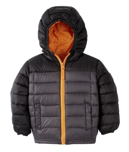18 24 M Blanc Noir Hooded Packable Down Jacket Baby Boys Charcoal Grey Sz 12
