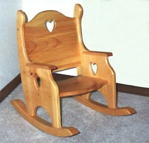 toddler child s rocker rocking chair plans patterns ebay
