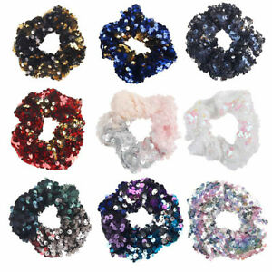 Women-Girl-12-styles-Mermaid-Sequins-Scrunchie-Elastic-Ponytail-Holder-Hair-Ties