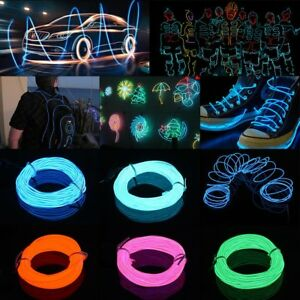 Neon-LED-Light-Glow-EL-Wire-String-Strip-Rope-Tube-Car-Party-without-Battery-Box