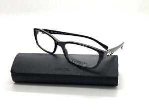 New-Authentic-Prada-VPR07N-ACF-1O1-Black-Clear-53mm-Frames-Eyeglasses-RX-Italy