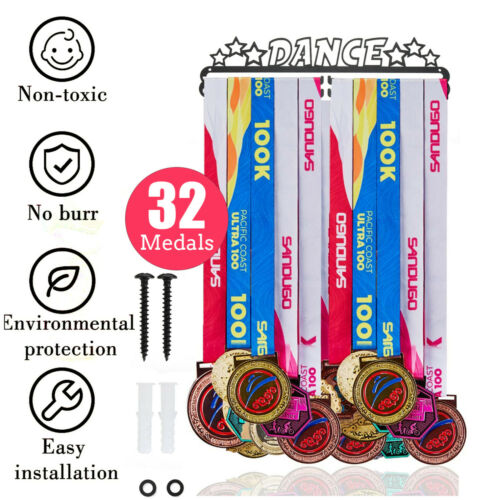 32 Medals Dance Star Sports Hanger Iron Metal Display Rack Hook Holder Decor