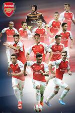 ARSENAL FC 13-Player Action POSTER - Walcott, Ozil, Ramsey, Giroud, Sanchez, +++