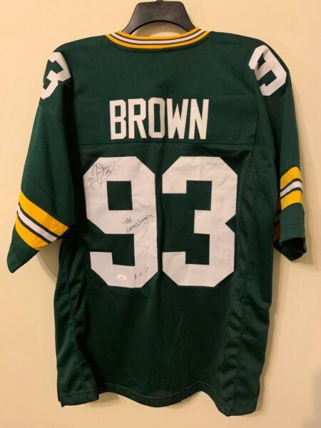 Gilbert Brown Signed Green Bay Packers Jersey JSA COA GBP SB XXXI ...