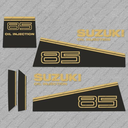 Suzuki DT85 85HP Two stroke Outboard Engine Gold Decals Sticker Set reproduction