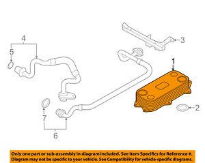 details about audi oem 14 15 r8 5 2l v10 engine oil cooler 07l117021m Audi R8 Drivetrain Diagram