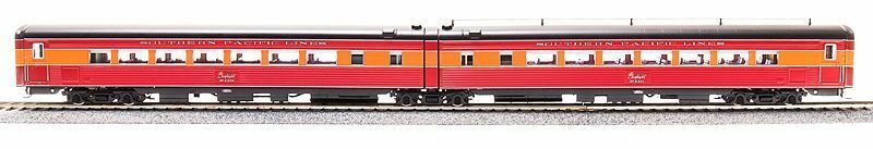 Broadway Limited 688 HO Scale Articulado silla mañana luz SP 2457 2458